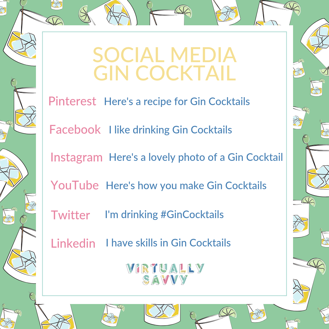 Which social media platform is right for your business - explained to you by the power of gin! #SocialMedia #smallbusiness #business #gin