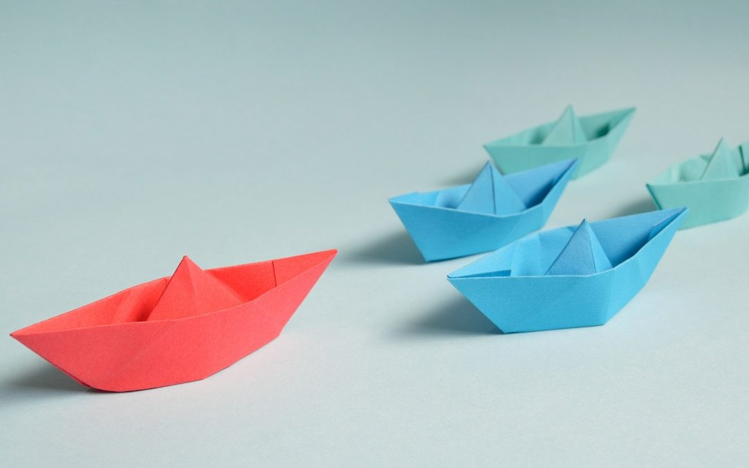 A new route to market - £1.2million from a £650 Facebook Lead-gen campaign. The photo is of coloured paper boats to symbolise the products sold.